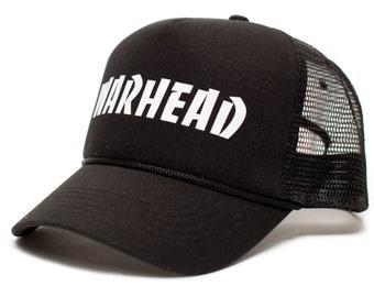 7b305509a659c WARHEAD Dimebag Darrell Unisex Adult One-Size Black Black Snapback Truckers Hat  Cap …