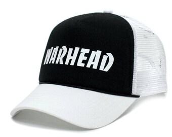 WARHEAD Dimebag Darrell Unisex Adult One-Size White Mesh Black Snapback Truckers  Hat Cap 9709be521f34