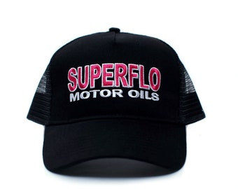 468d28aa6e78b Superflo Hat - Days of Thunder Trucker Hat Unisex Adult Cap Black