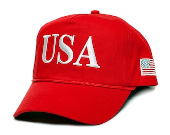 6229f2f688f USA 45 Red Trump Make America Great Again Embroidered hat One Size Adult Cap