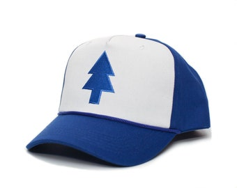 1d35a00fafa3a Dipper Blue Pine Hat Embroidered Curved Cloth   Braid Unisex- Adult One  Size Royal White Baseball Cap …