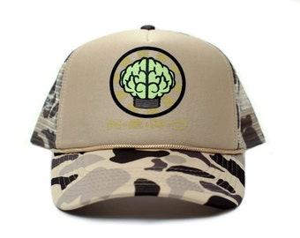 f6fa3429cfc27 Custom N E R D NEPTUNES NERD Trucker Hat Mesh Hat Snapback cap CAMO Curved