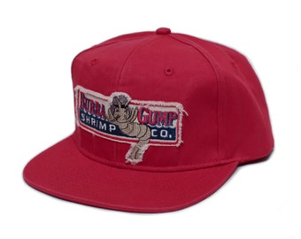3a44e48e7c0 Bubba Gump Shrimp Co. Unisex-Adult One Size Embroidered Distressed Cap Red