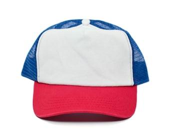 Stranger Things Movie Cap Hat Red White Cotton Royal mesh unisex-adult  Snapback 773f0af9c0b
