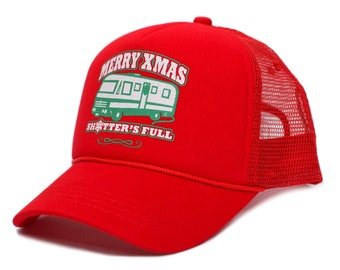 b94da65a2bdb1 Merry Christmas Xmas Shitter s Full Funny Truckers Hat Cap Red
