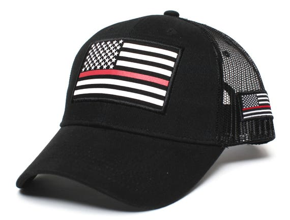 Thin RED Line USA flag Posse Comitatus Unisex Adult One-Size  9314451f4d89
