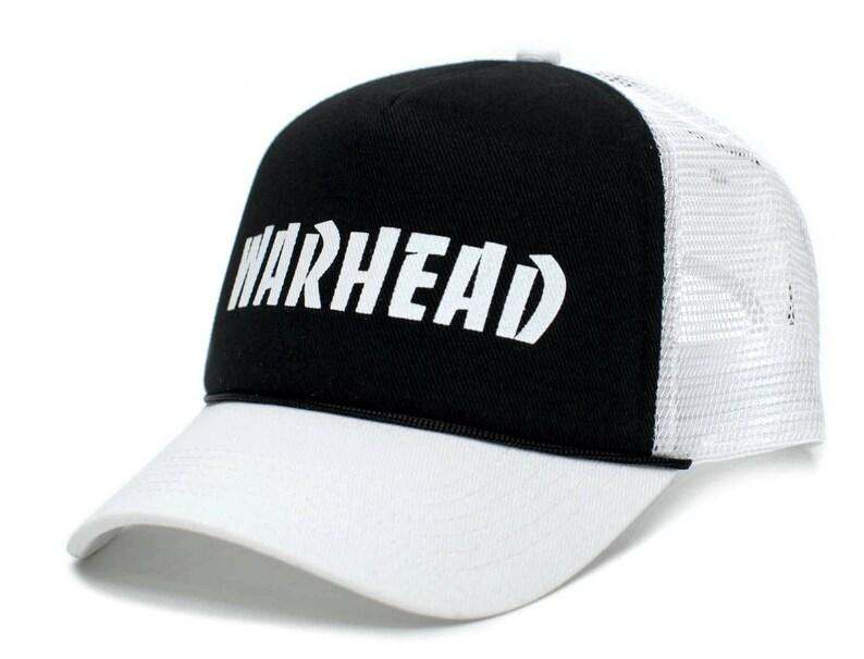 bc3ae2b92 WARHEAD Dimebag Darrell Unisex Adult One-Size White Mesh/Black Snapback  Truckers Hat Cap