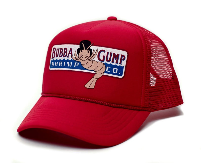 adf6e473ec0 Custom Bubba Gump Shrimp Co. Printed Unisex Adult Truckers Hat