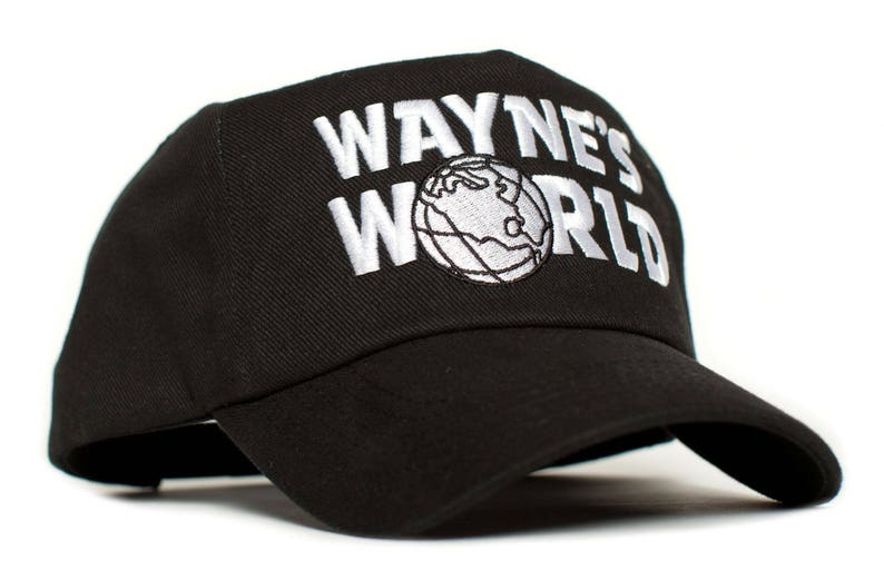 9f5aeddd767 WAYNE S WORLD Embroidered Cotton Twill TV Cap Hat Snapback