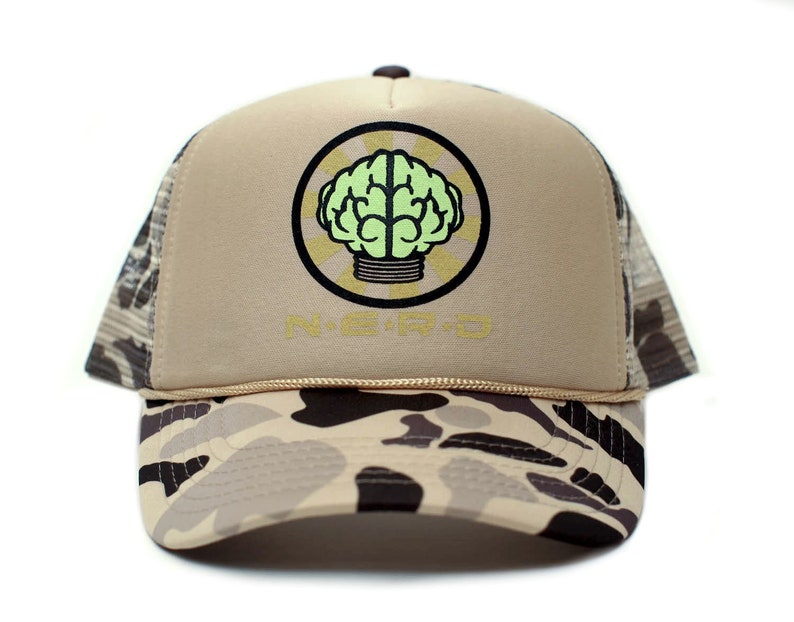 Custom NERD NEPTUNES NERD Trucker Hat Mesh Hat Snapback cap  34cce560f42c
