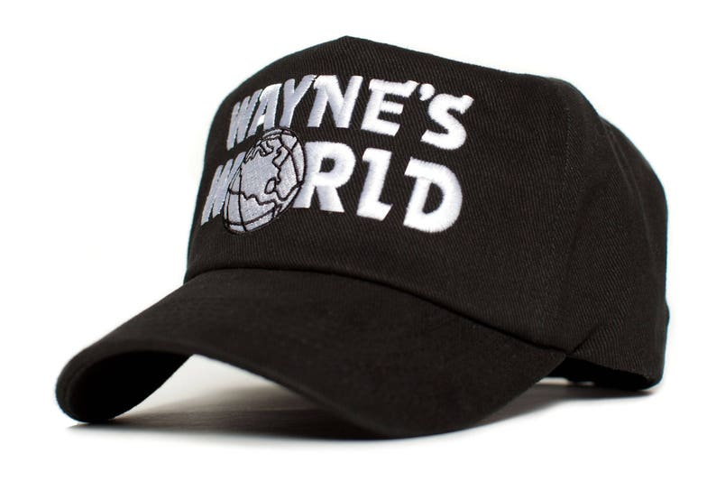 a95c8316253 WAYNE S WORLD Embroidered Cotton Twill TV Cap Hat Snapback