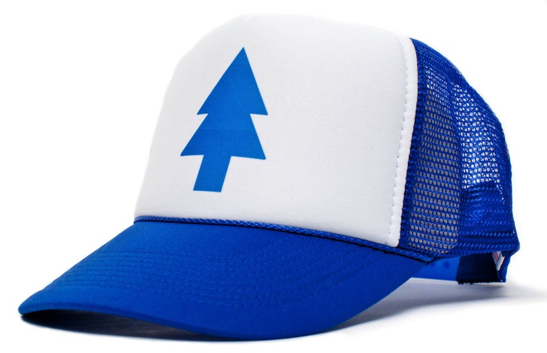 Dipper Hat Cap Blue Pine Tree Adult-Unisex One Size Trucker image 0