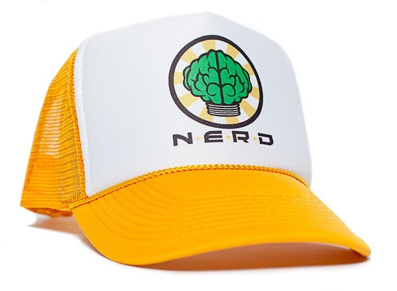 NERD NEPTUNES Trucker Hat Mesh Hat Snapback cap Gold Curved  6058e100cac