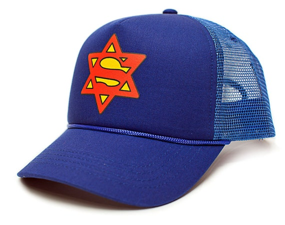 Super Jew Star Of David Funny Unisex-Adult One Size Trucker  a9bcaa8fd0c