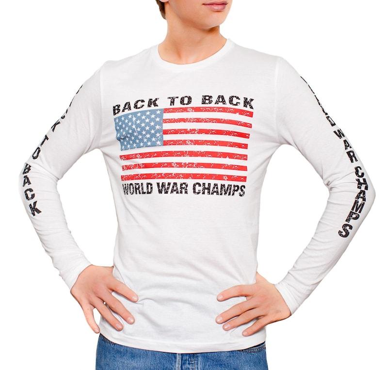 de2b49183 Back To Back World War Champs Long Sleeve Men's White | Etsy