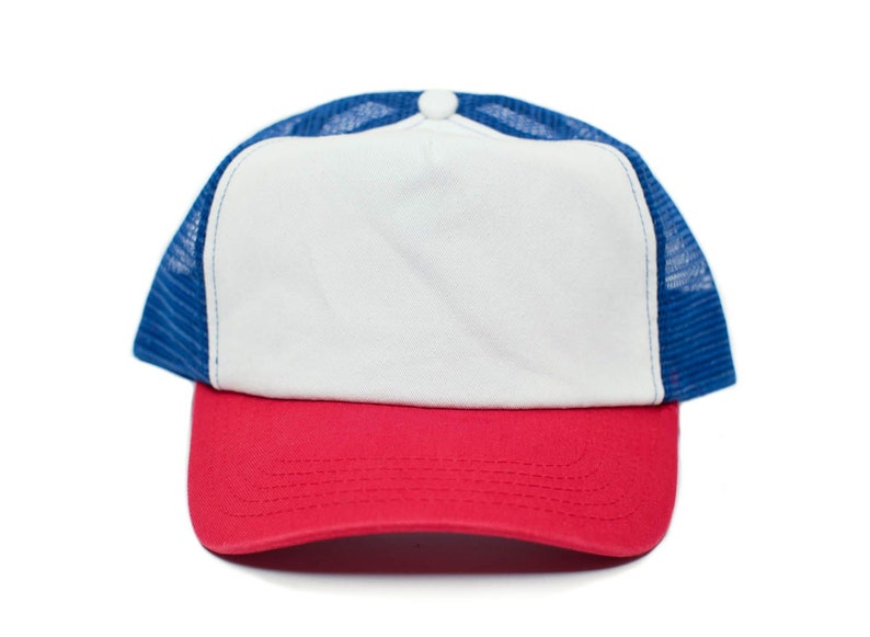 Stranger Things Movie Cap Hat Red White Cotton Royal mesh  93a22e543930