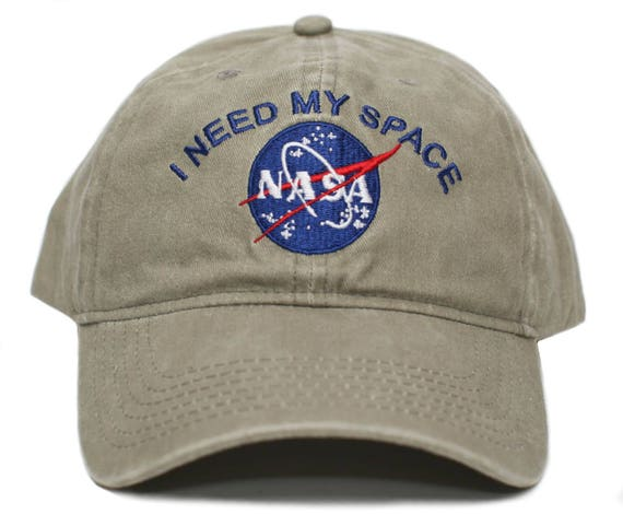 NASA I Need My Space Pigment Dye Embroidered Hat Cap Unisex  586091fe763