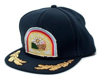 Alien Flat Bill Nostromo USCSS Movie Hat Appliqué Patch Cap Unisex Adult Navy