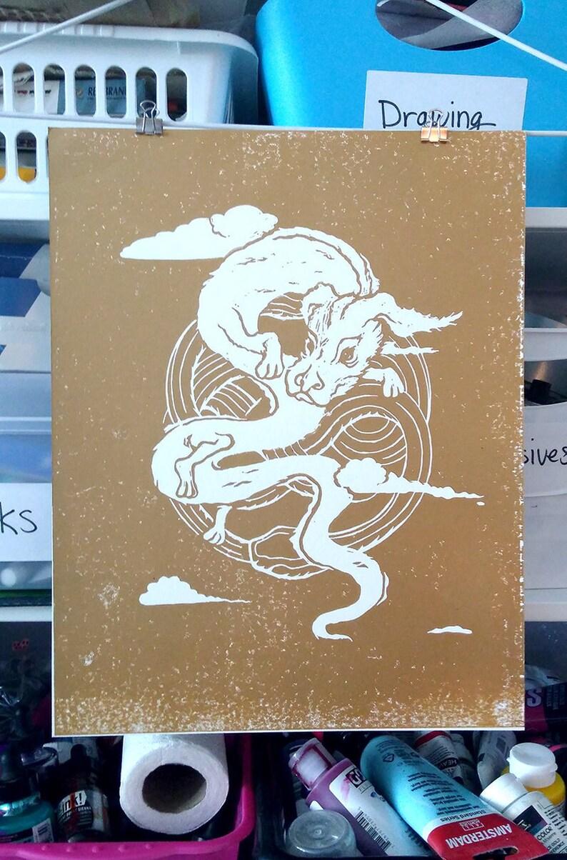 Falcor the Dragon Art print image 0