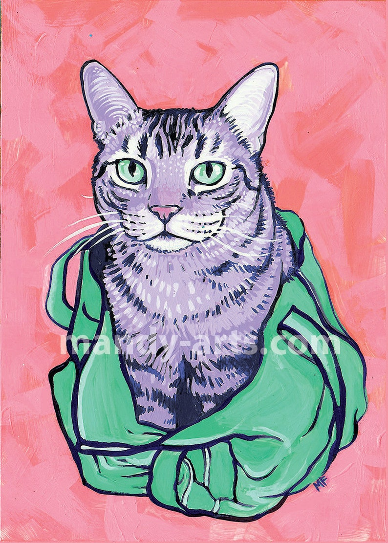 Tote Cat Holographic Print image 0