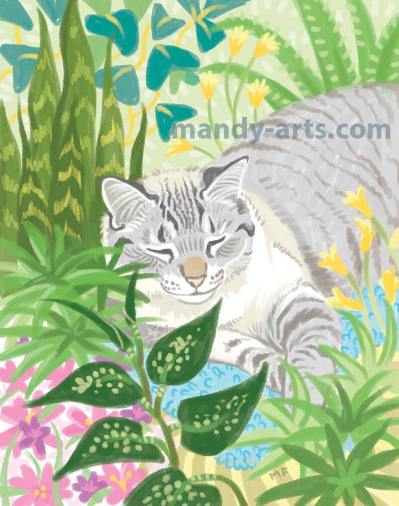 Plant Kitty Art Print image 0