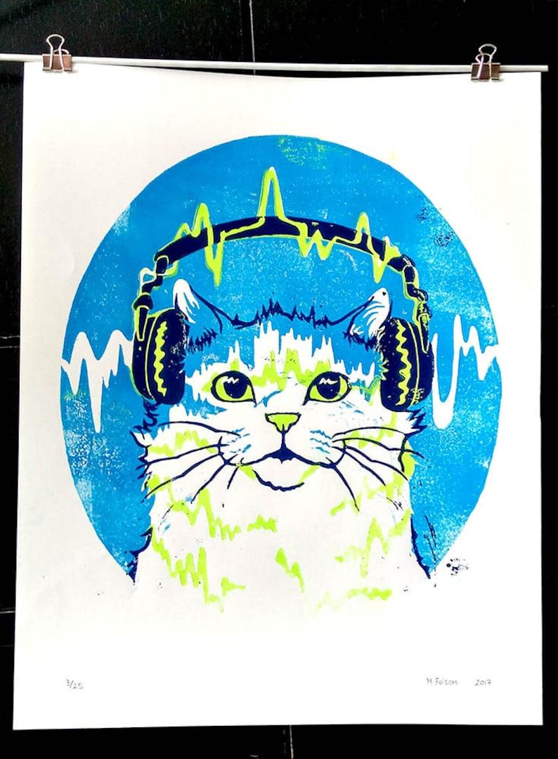 Jazz Cat Art Print image 0