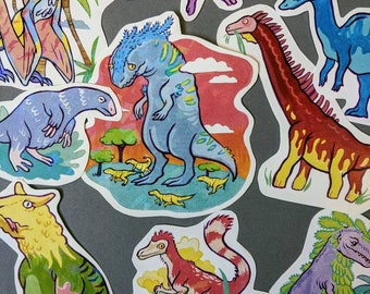 Assorted Holo Dino Paper Stickers