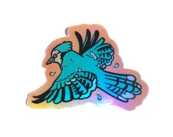 Bluejay Holographic Sticker