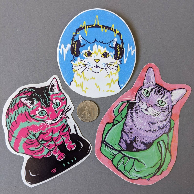 Kitty Stickers 3 pack