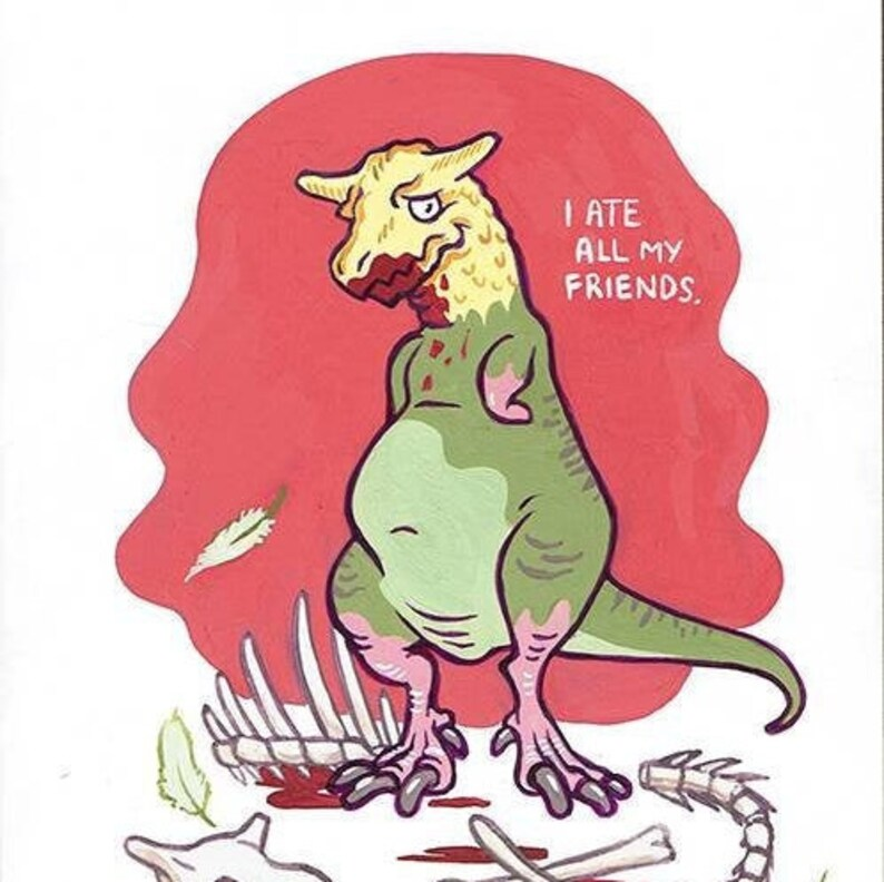 Carnotaurus Ate All his Friends painting image 0
