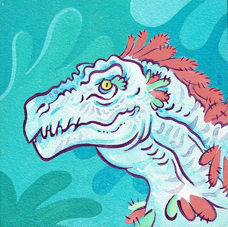 T-rex painting image 0