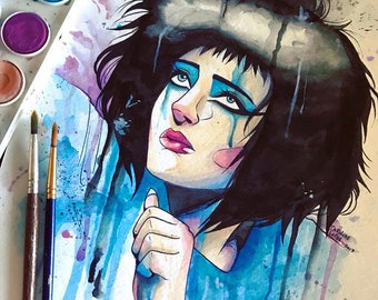 Siouxsie Sioux watercolor
