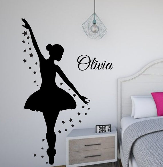 Ballet Wall Sticker Life Is Better In A Tutu Dance Studio Girls Vinyl Wall Decal