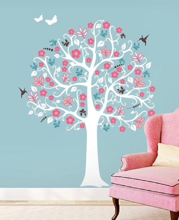 Shabby Chic Tree Wall Decor Decal Art Sticker Mural Free Etsy
