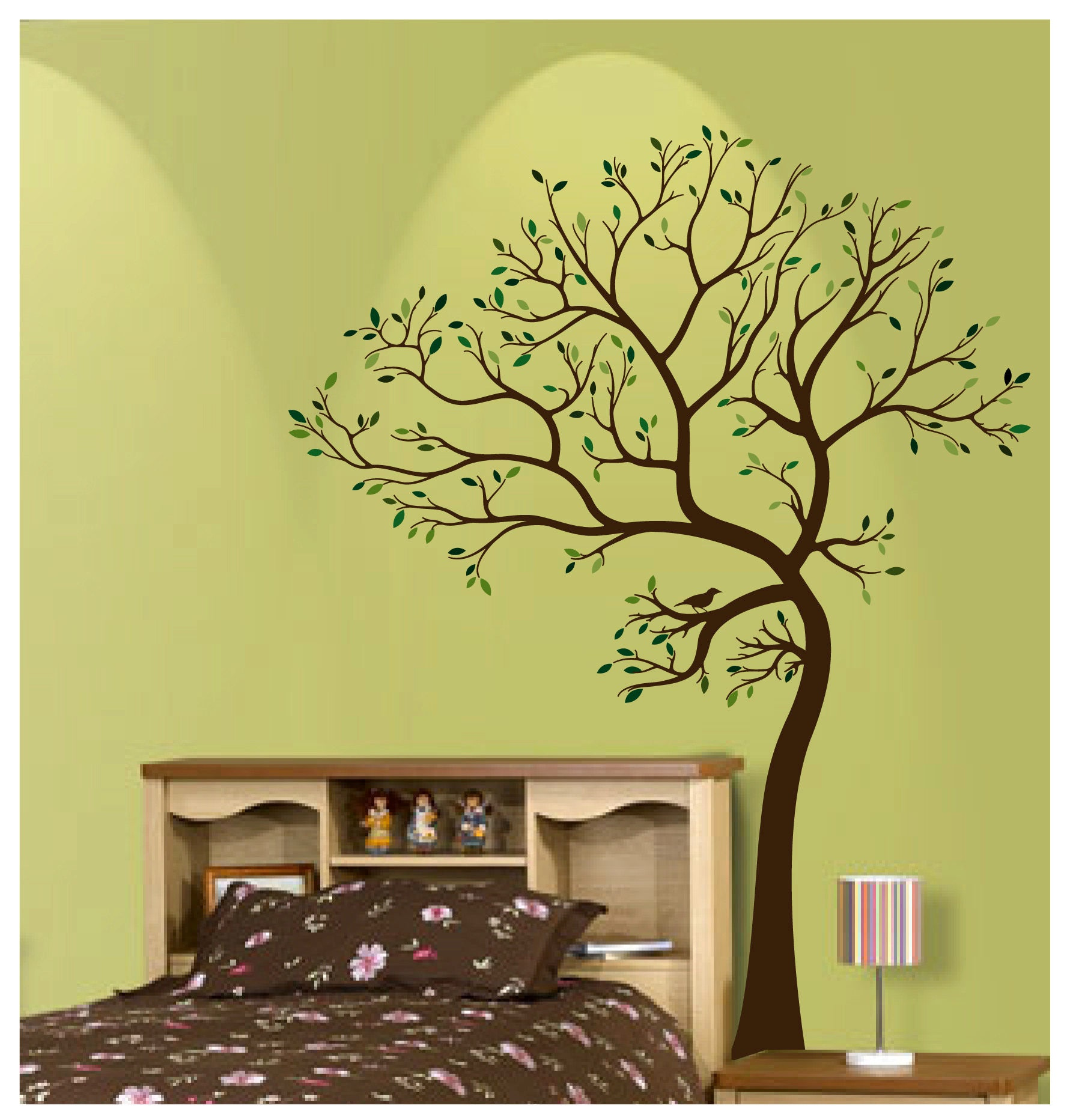 7 Ft. BIG Tree with Bird Wall Decal Deco Art Sticker Mural | Etsy