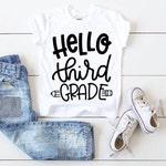 Hello Third Grade, Kids Back to School Tee, Boys Back To School Shirt, Girl Back To School Shirt, Cute Kid School Tee, 3rd Grade School Tee
