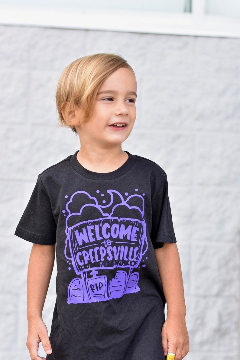 Welcome to Creepsville Kids Halloween Shirt Toddler Spooky image 0