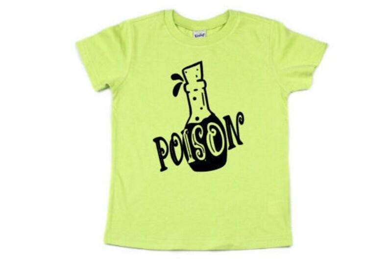 Kids Poison Shirt Kids Halloween Shirt Classic Halloween image 0