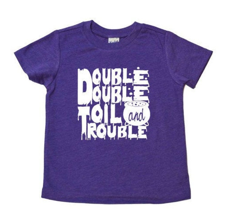 Kids Glow in the Dark Halloween Tee Double Double Toil and image 0