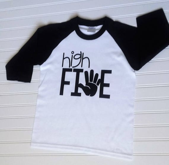 High Five Birthday Shirt 5th Boys