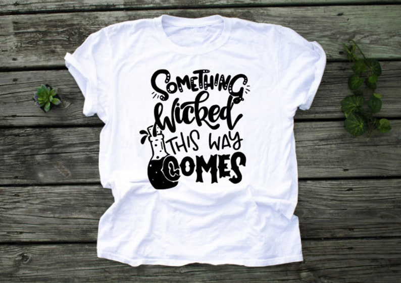 Ladies Halloween Wicked Tee Something Wicked This Way Comes image 0