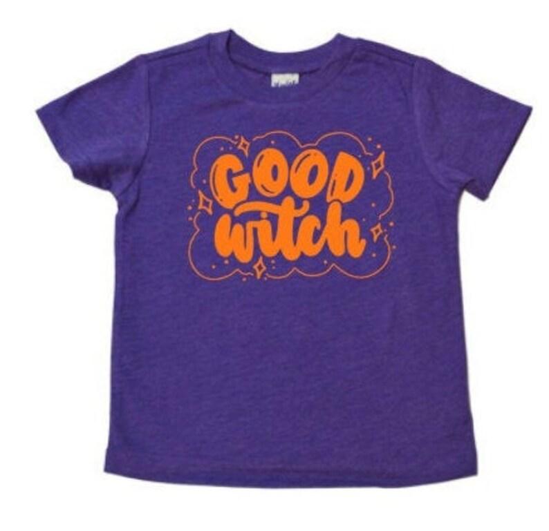 Good Witch Kids Halloween Shirt Witches Magic Shirt Girls image 0