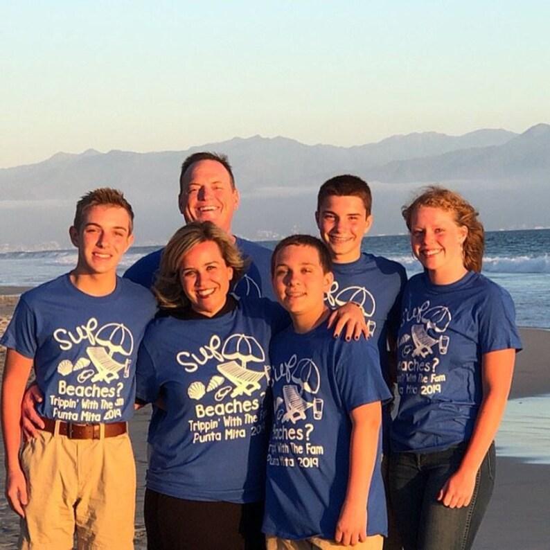 462389cf Beach Themed Family Vacation Shirts Sup Beaches Family Tees | Etsy