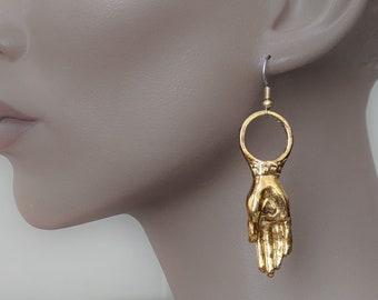 Hand earring, irish jewelry, Irish earring, hand earrings, Claddagh, drop earring, Friendship gift, Heart Hand, big earring, dangle earring