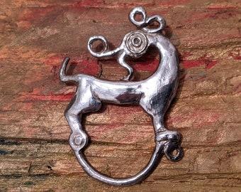 Celtic Dragon fibula pin STERLING Irish museum replica jewelry, Dragon brooch, Irish history, Game of Thrones, dragons, glasses holder pin