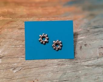 STERLING tiny circle studs Irish sun symbol, Wicken, Celtic jewelry, stud earring, Irish earring, Viking, Irish myth, Celtic symbols, Pagan