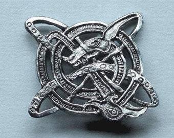 Celtic spiral brooch Irish jewelry pin, Celtic jewelry, Wicken, Viking jewelry, Celtic symbol, Beast Spiral, jacket pin, museum jewelry