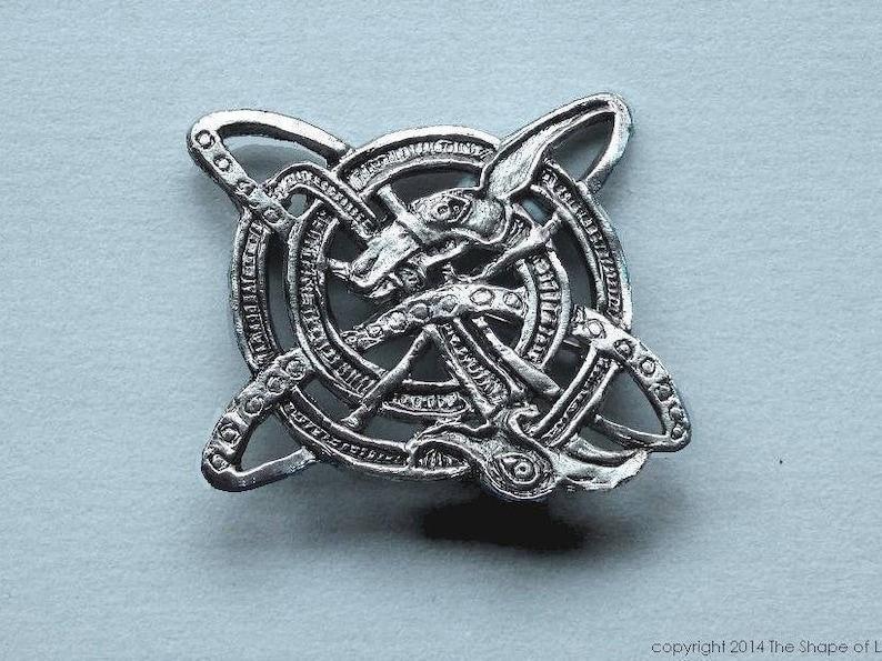 Celtic spiral brooch Irish jewelry pin Celtic jewelry image 0