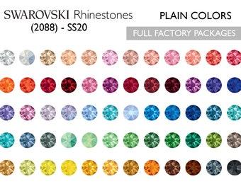 1,440pcs Swarovski Rhinestones (2088) SS20 Plain Colors- CHOOSE YOUR COLOR
