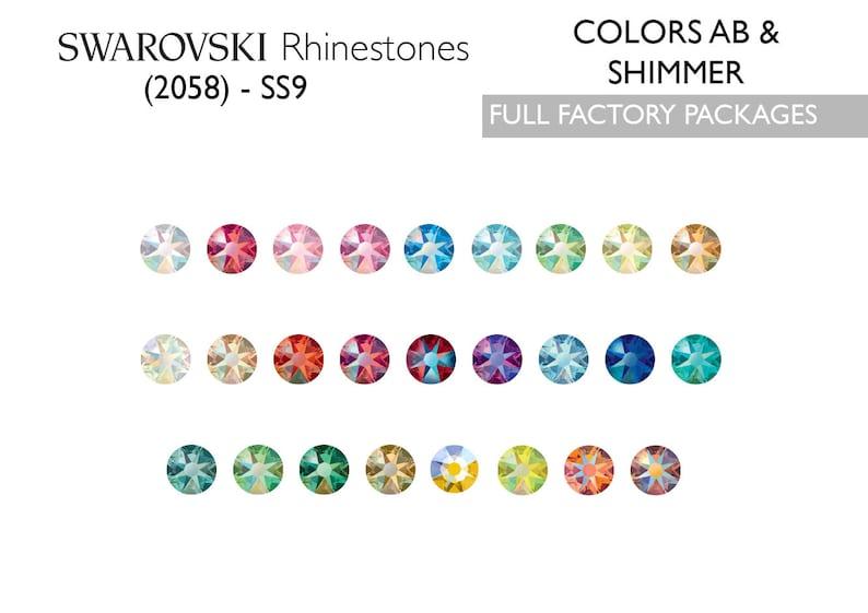 b6be98effb 1440pcs Swarovski Rhinestones 2058 SS9 ABs & Shimmer | Etsy